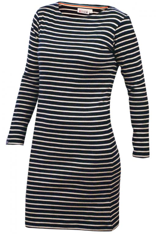 Bretons-jurkje-lange-mouw-navy-naturel