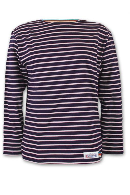 Classic Breton Shirt A01 navy pink