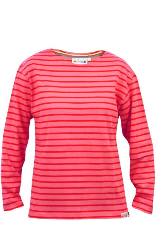 Classic-Bretons-shirt-fuxia-red