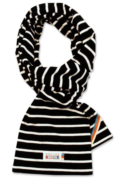 breton scarf black white