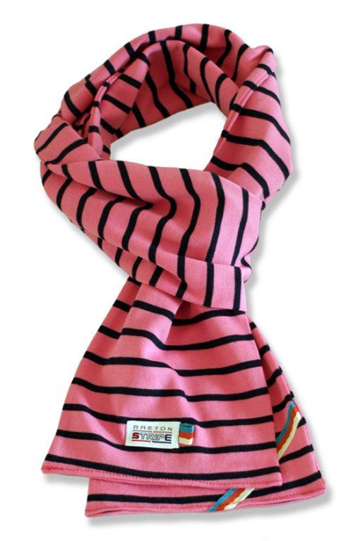 breton scarf fuxia navy