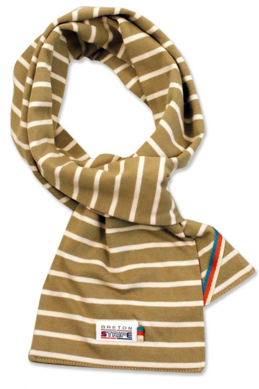 breton scarf khaki naturel