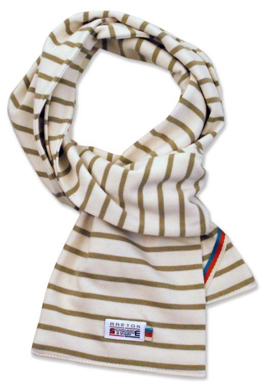 breton scarf naturel khaki