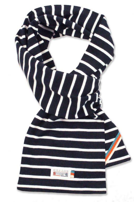 scarf navy white